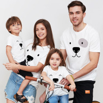 Matching Family Prints Bear Pure Color Family T-Shirts