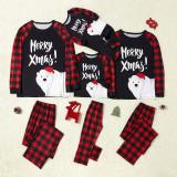 Christmas Family Matching Sleepwear Family Pajamas Merry Xmas Polar Bear Tops And Pants With Dog Cloth