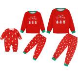 KidsHoo Exclusive Design Red Snowmans Christmas Family Matching Sleepwear Pajamas Sets