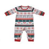 Christmas Family Matching Sleepwear Pajamas Sets Cute Deer Merry Christmas Top and Pattern Pants