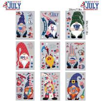 Home Decorative Independence Day Santa Claus Window Sticker
