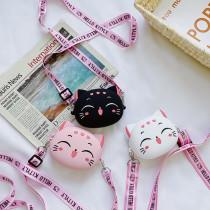 Cute Cat Mini Silicone Bag Single Shoulder Bag Coin Purse