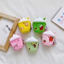 Fruit Ice Cream Silicone Coin Purse Mini Single Shoulder Bag