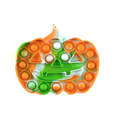 Multicolor Halloween Pumpkin Pop It Fidget Toy Push Pop Bubble Sensory Fidget Toy Stress Relief for Kids & Adult