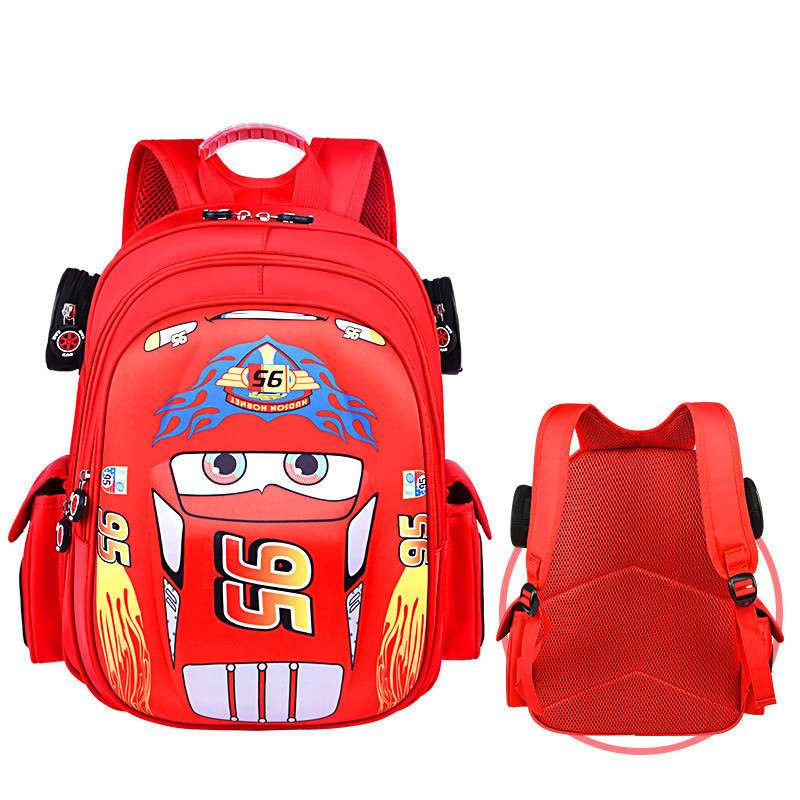Kids Racing Cars Kindergarten Schoolbag Backpack Bag