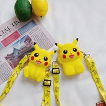 Pikachu Mini Silicone Single Shoulder Bag Coin Purse