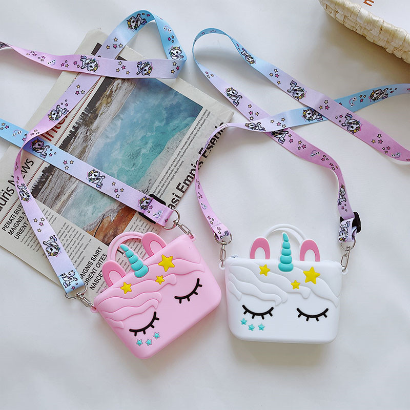 Cute Unicorn Stars Mini Bag Single Shoulder Bag Coin Purse