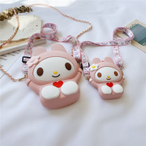 Mom and ME My Melody Silicone Shoulder Messenger Bag