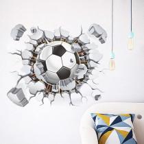 Home Decorative Football Broken Wall Paste Living Room Bedroom Background Wallpaper