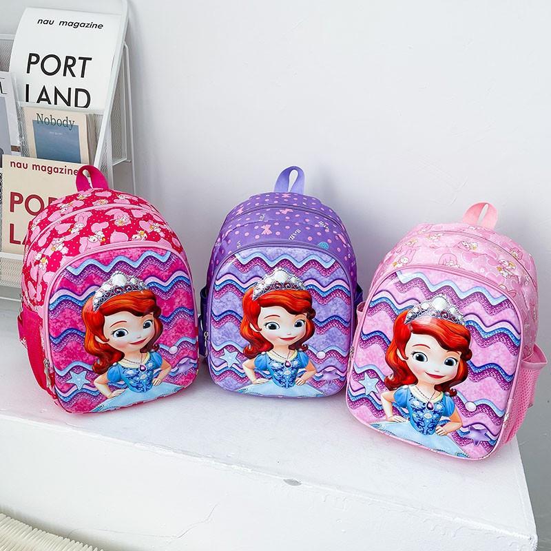 Primary Kindergarten Sofia Princess Schoolbag Waterproof Backpack Bag