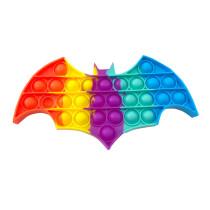 Happy Halloween Bat Pop It Fidget Toy Push Pop Bubble Sensory Fidget Toy Stress Relief for Kids & Adult