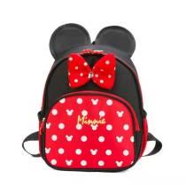 Toddler Kids Minnie Bowknot Dots Kindergarten Schoolbag Backpack Bag