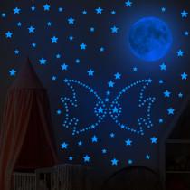 Home Decorative Creative Night Light Star Planet Decorative Wallpaper Bedroom Children's Room Blue Ray