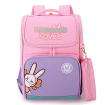 Elementary School Backpack Bunny Student School Bag With Pencil Box