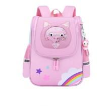 Kids Pink Rainbow Cat Kindergarten Schoolbag Backpack Bag