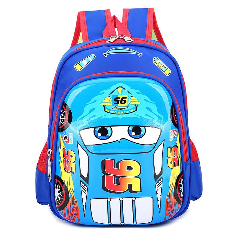 Toddler Kids Super Racing Cars Kindergarten Schoolbag Backpack Bag