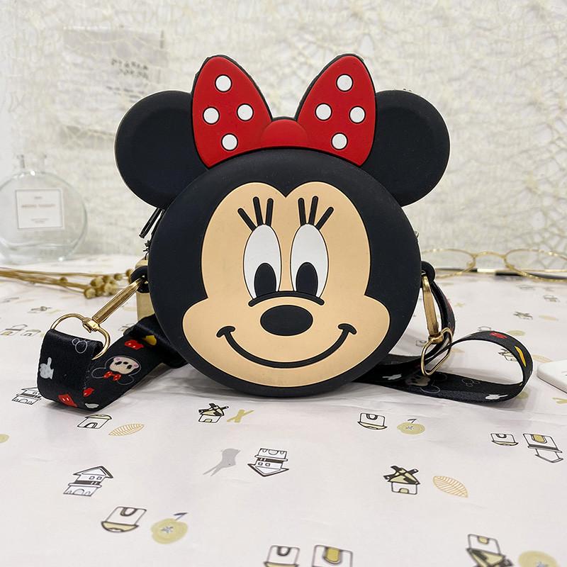 Cartoon Mickey Minnie Silicone Coin Purse Shoulder Bag