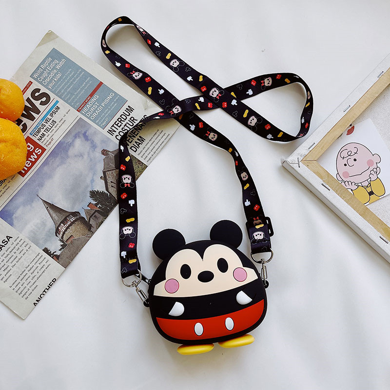Disney Mickey Mini Silicone Bag Single Shoulder Bag Coin Purse