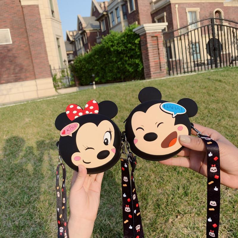 Cute Cartoon Winking Mickey Minnie Shoulder Messenger Bag
