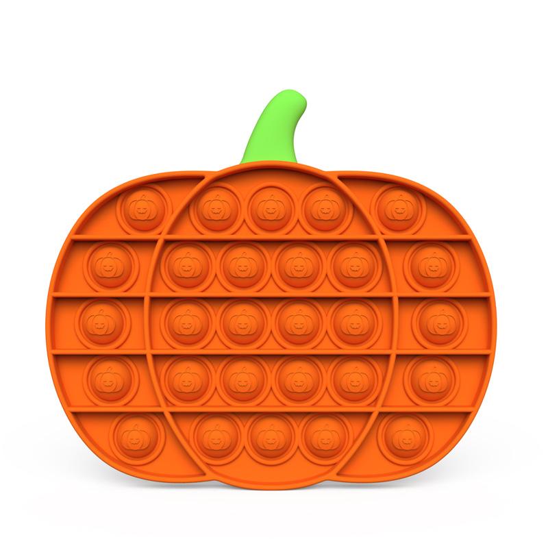 Rainbow Pumpkin Pop It Fidget Toy Push Pop Bubble Sensory Fidget Toy Stress Relief for Kids & Adult