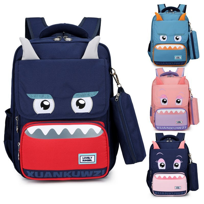 Elementary School Backpack Monster Student Backpack Schoolbag