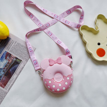 Minnie Donuts Mini Silicone Bag Girl Shoulder Messenger Coin Purse
