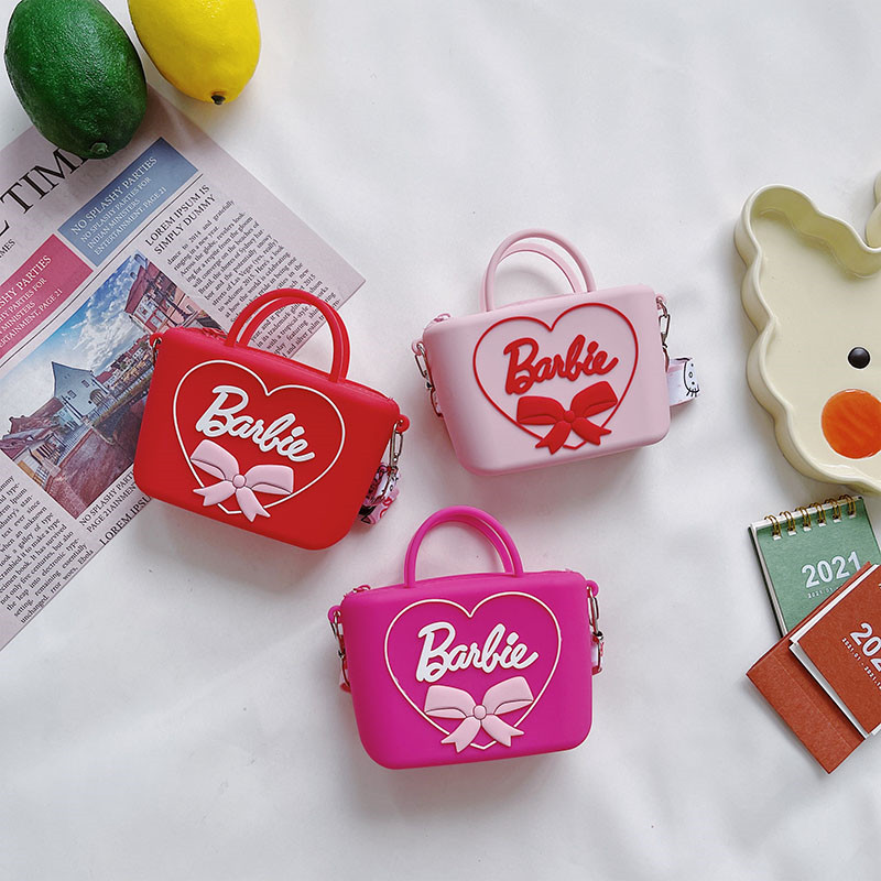 Bowknot Square Silicone Coin Purse Shoulder Bag