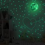 Home Decorative Creative Night Light Star Planet Decorative Wallpaper Bedroom Children's Room Green Fluorescent