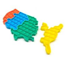American Map Puzzle Pop It Fidget Toy Push Pop Bubble Sensory Fidget Toy Stress Relief for Kids & Adult