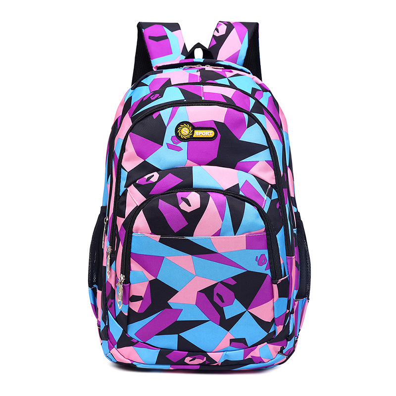 Macthing Color Students Sports Leisure Backpack School Bag
