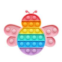 Bee Pop It Fidget Toy Push Pop Bubble Sensory Fidget Toy Stress Relief for Kids & Adult