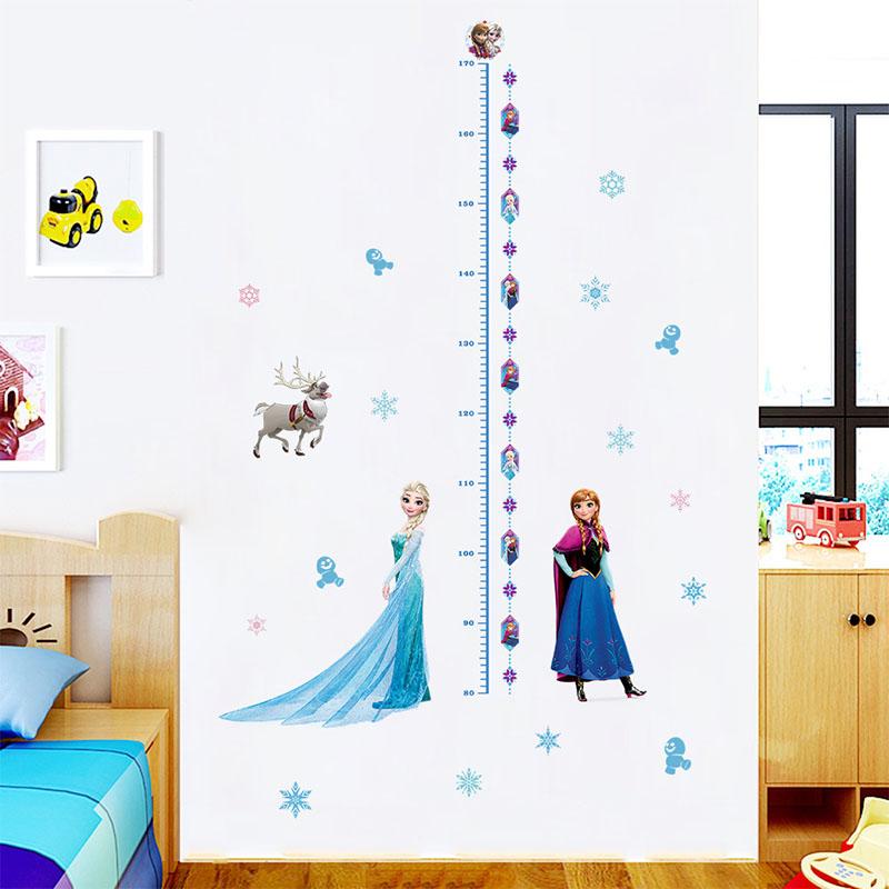 Home Decorative Frozen Princess Height Wall Stickers Wallpaper