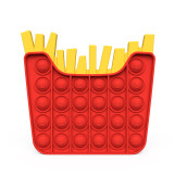 Hamburger French Fries Pop It Fidget Toy Push Pop Bubble Sensory Fidget Toy Stress Relief for Kids & Adult