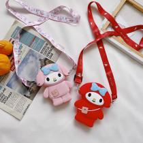 Cute Cartoon Bowknot Girl Silicone Mini Single Shoulder Bag
