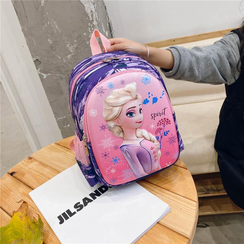 Primary Kindergarten Frozen Princess Schoolbag Pattern Lightweight Waterproof Backpack Bag