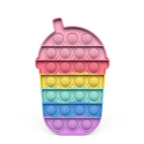 Milk Tea Cup Pop It Fidget Toy Push Pop Bubble Sensory Fidget Toy Stress Relief for Kids & Adult