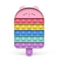 Rainbow Popsicle Ice Lolly Pop It Fidget Toy Push Pop Bubble Sensory Fidget Toy Stress Relief for Kids & Adult