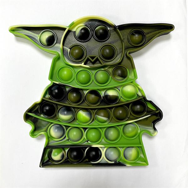 Star Wars Yoda Silicone Alien Pop It Fidget Toy Push Pop Bubble Sensory Fidget Toy Stress Relief for Kids & Adult
