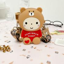 Cute Brown Bear Coin Purse Shoulder Messenger Bag