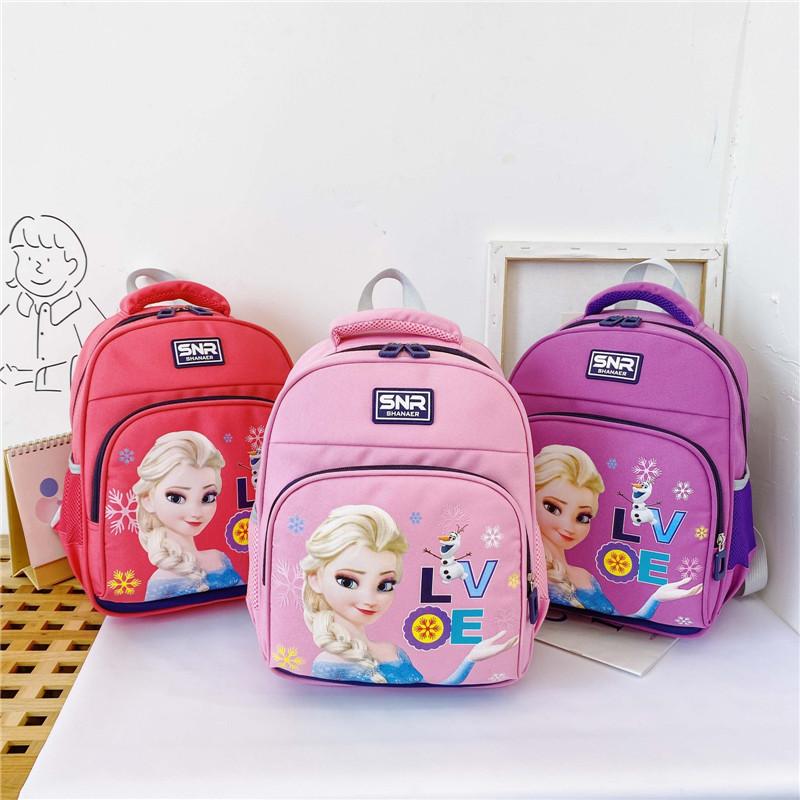 Primary Kindergarten Frozen Princess Schoolbag Lightweight Waterproof Backpack Bag