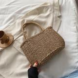 Lace Bow Square Woven Handbag