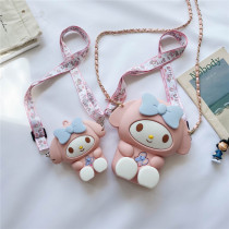 Mom and ME My Melody Bow Silicone Shoulder Crossbody Bag