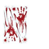 Home Decorative Halloween Static Paste Blood Hand Footprints Skull Toilet Toilet Floor Wall Window Stickers Wallpaper