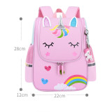Kids Pink Rainbow Unicorn Kindergarten Schoolbag Backpack Bag