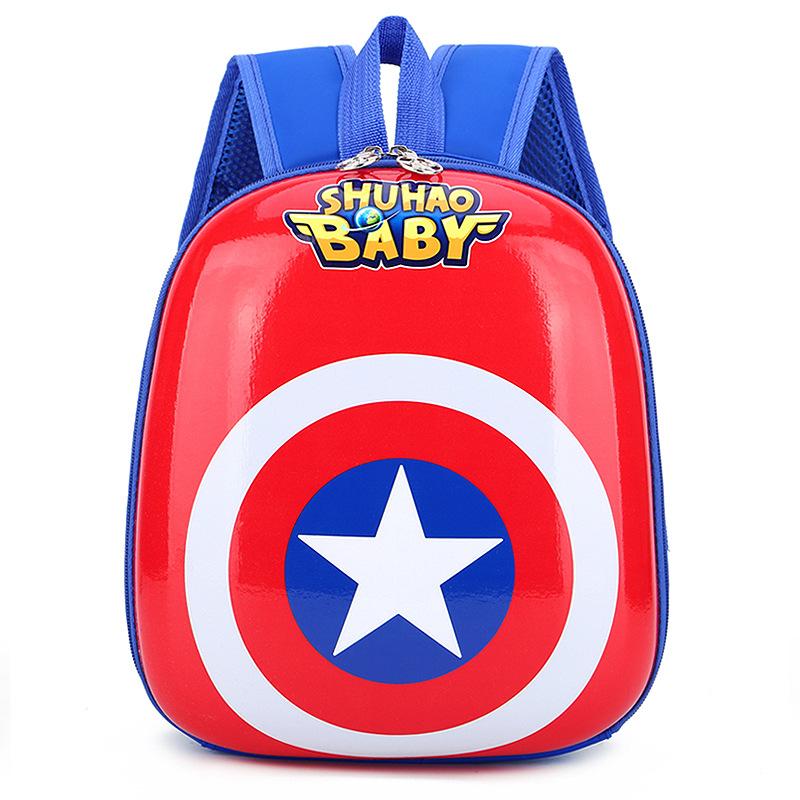 Toddler Kids Captain America Kindergarten Schoolbag Backpack Bag