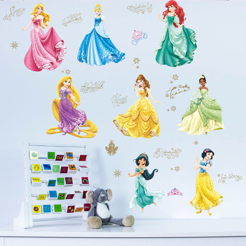 Home Decorative Princess Girl's Room Wall Stickers Wallpaper