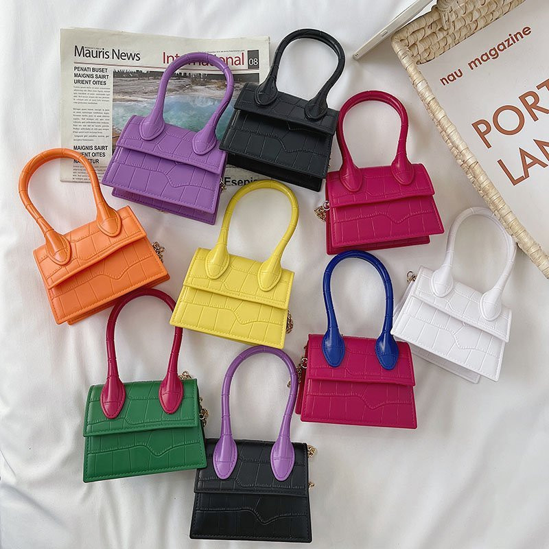 Square Rhombic Pattern Portable Single Shoulder Bag