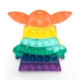 Star Wars The Mandalorian Yoda Alien Pop It Fidget Toy Push Pop Bubble Sensory Fidget Toy Stress Relief for Kids & Adult