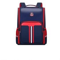 Macthing Color Students Waterproof Schoolbag PU Leather Backpack Bag
