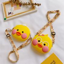 Cute DUDUDUCK Yellow Duck Silicone Coin Purse Single Shoulder Bag